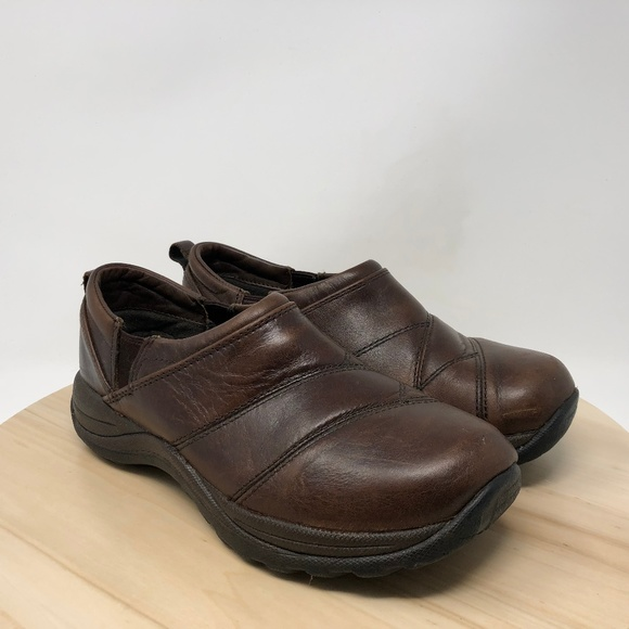 Ll Bean Black Slip On Wedge Heel Slides Sandals Women Sz 8m Women's Shoes